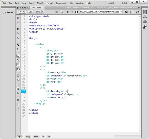 Html table column span rows phpsourcecode net for Html table column